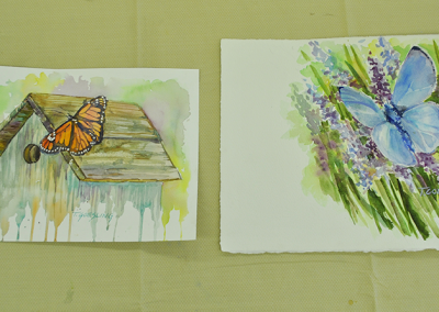 Final butterfly paintings