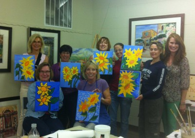 Painting Sunflowers Workshop May 2013